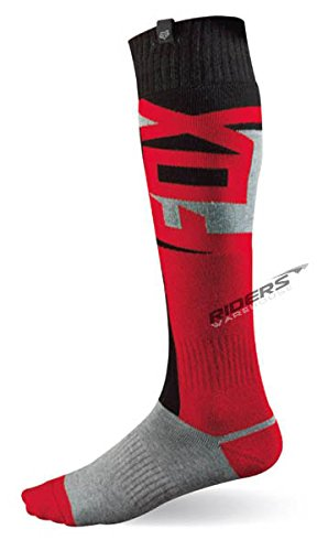 Fox Racing Fri Vandal Thin Men's MX Motorcycle Socks - Red/Small