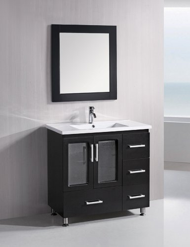 Design Element B36-DS Stanton 36-Inch Single Sink Vanity Set, (Four Drawers Double Sink Vanity)