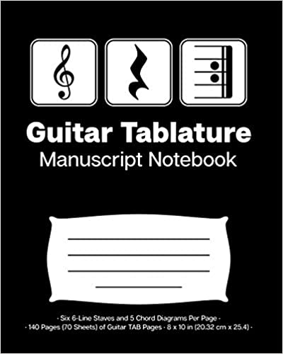 graphic relating to Tablature Paper Printable named Guitar Tablature Mcript Laptop: Treble Clef Engage in Take it easy