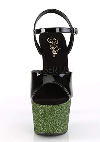 Pleaser Ombre ADORE blk Blk Emerald 709OMBRE 0w7pxCw6q