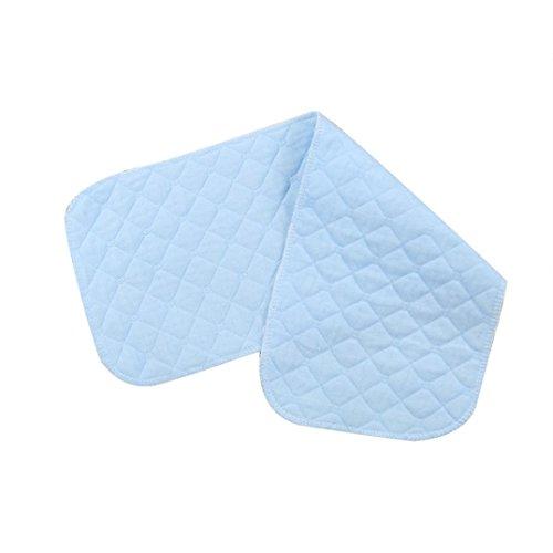 Price comparison product image Misaky 5pcs Infant White Ecological Cotton Baby Cloth Diaper Washable Nappy (5 PCS,  Sky Blue)