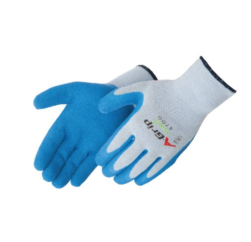 Coated Seamless Knit Glove - Liberty A-Grip Latex Premium Textured Palm Coated Seamless Knit Glove, Large, Blue (Pack of 12)