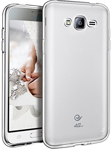LK Case for J3, Express Prime, Amp Prime, Ultra [Slim Thin] TPU Rubber Soft Skin Silicone Protective Case Cover for Samsung Galaxy J3 / Express Prime/Amp Prime (Clear)