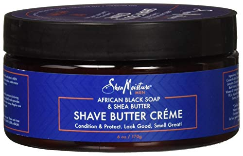 Shea Moisture, Shea Butter and African Black Soap Shave Butter Shave Cream 6 Oz (Pack of 3)