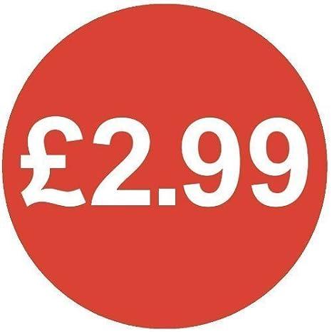 /£2.99 30mm 1000 /£ Bright Blue Price Stickers
