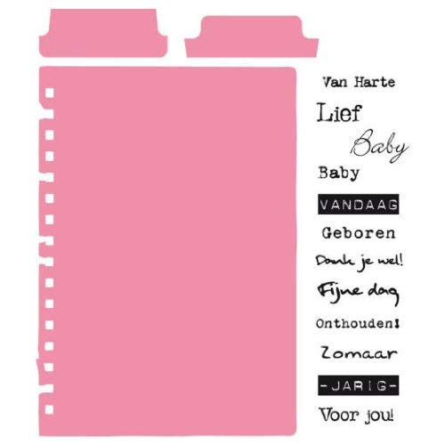 Marianne Design Cutting Dies & Clear Stamps - Tab with with with Text NL COL1314 B00CU5ER34   Deutschland Berlin  bc074e
