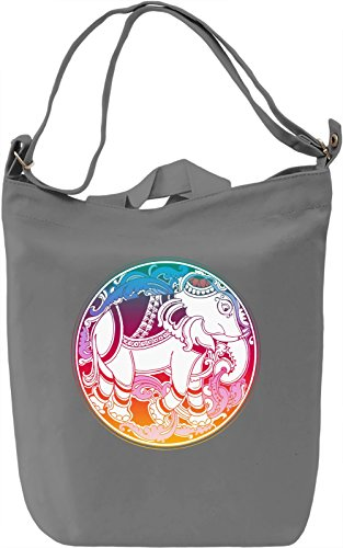 Indian Elephant Borsa Giornaliera Canvas Canvas Day Bag| 100% Premium Cotton Canvas| DTG Printing|