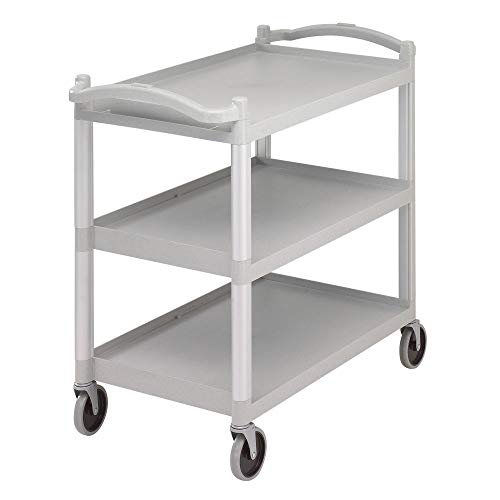 (Cambro BC340KD480 Speckled Gray 3 Shelf Knockdown Utility Cart )