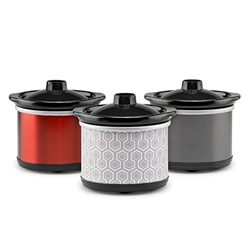 TRU Mini Crock Three Pack - Assorted Colors (Copper Red Finish)