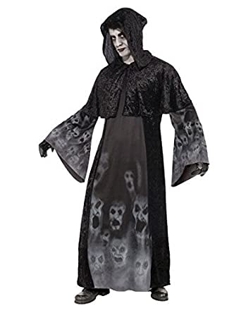 Perchero fantasma Halloween Disfraz Negro: Amazon.es ...
