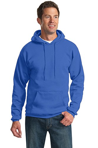 Ultimate Pullover Cotton Hooded (Port & Company Men's Tall Ultimate Pullover Hooded Sweatshirt 3XLT Royal)