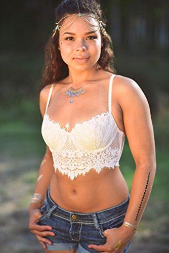 Costume Angel Divine (Best Temporary Metallic Tattoos - Gold/Silver - Premium Designs - Animals - Dragons - Native -)