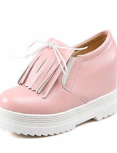 GGX/ Damen-High Heels-Outddor / Lässig-PU-Keilabsatz-Komfort / Rundeschuh-Schwarz / Rosa / Weiß pink-us8 / eu39 / uk6 / cn39