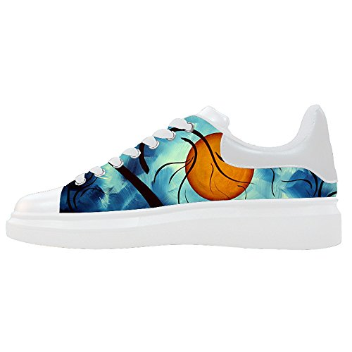 Custom Women's Shoes Art Tree Painting New Sneaker Canvas Thick Bottom