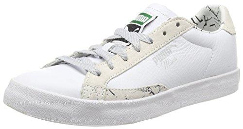 Puma Match Vulcanized PRNT F5, Women's Low-Top Sneakers White (White/Vaporous Gray/Glacier Gray)