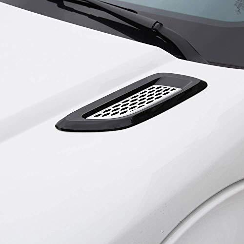 - ABS Plastic Front Slat Air Vent Outlet Cover Trim for Landrover Discovery 4 Freelander 2 RR Evoque, Jaguar F-Pace X761Black Silver
