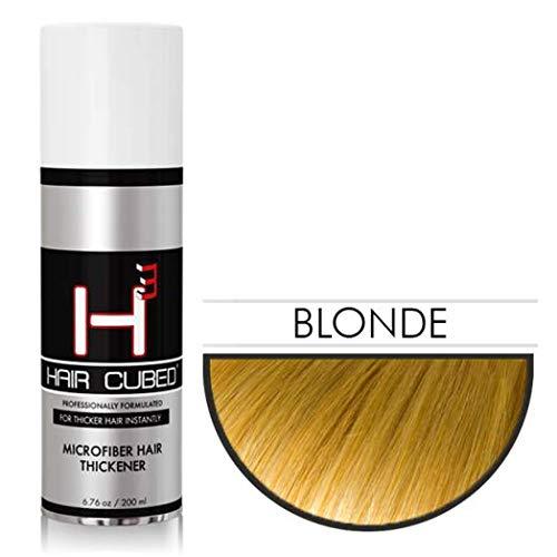 Hair Cubed® - Blond, Hair Building Fiber Spray -(Water Proof) Lasts 2-5 Months by Hair Cubed  Blonde Hair Fiber (WaterProof) (Image #1)