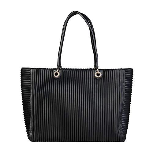 Versace Designer Genuine Shopping Jeans Black Bag Women r4rSq8gPW