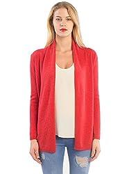Lebac Women S 100 Cashmere Open Front Cardigan Sweater
