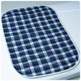 CareFor Deluxe Designer Print Reusable Underpads Green Plaid, 32