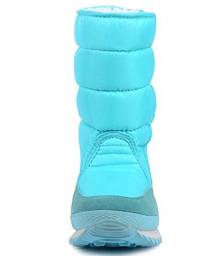 Waterproof Blue Snow Women's Boot DADAWEN Frosty B5XwOqfnUx