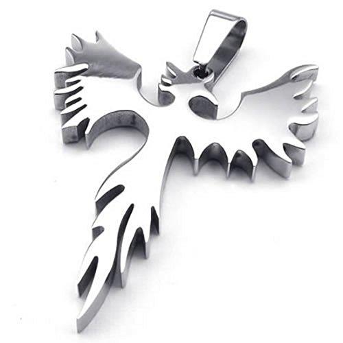 SODIAL(R) Jewelry Stainless Steel Phoenix pendant with 70cm Chain, necklace for Men Women, - Phoenix Arrowhead