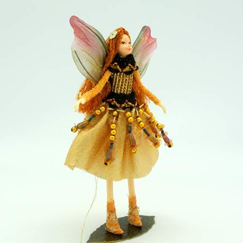 Tassie Design Handmade Gold Jewel Fairy Doll - with Wings and Jewels (Fairies Handmade)