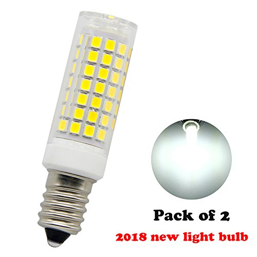 E14 LED Bulb 6W AC120V Incandescent Bulbs 75W Equivalent,600LM,White Light 6000K (Pack of 2