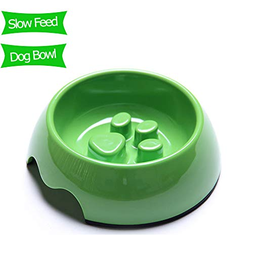TEESUN Slow Feeder Dog Bowls for Large Dogs, Fun Interactive Bloat Stop Pet Eating Bowl Raised Cat Puppy Bowls for Wet and Dry Food, Anti-Choking.