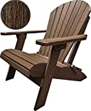 DuraWeather Poly King Size Folding Adirondack Chair (Antique Mahogany)