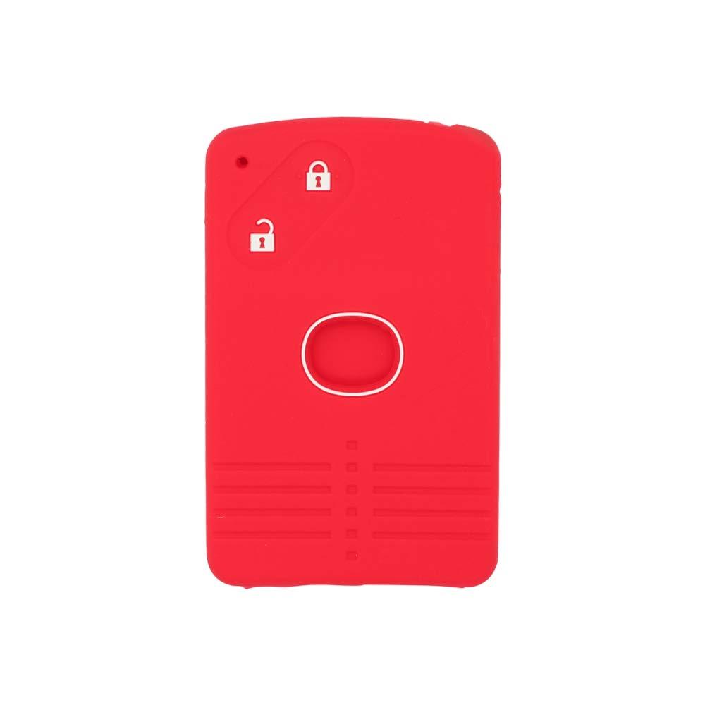 SEGADEN Silicone Cover Protector Case Skin Jacket fit for MAZDA 2 Button Smart Card Remote Key Fob CV4532 Black