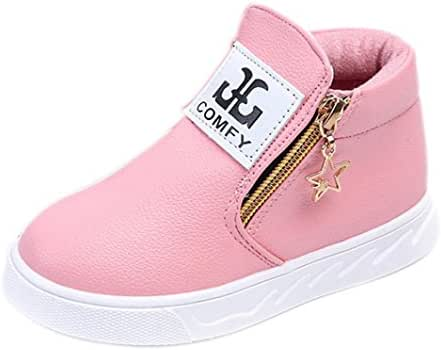 Moonker Baby Shoes for 1-5 Years Old,Toddler Boy Girl Kids Fashion Autumn Zip Martin Boots Sneakers Casual Shoes