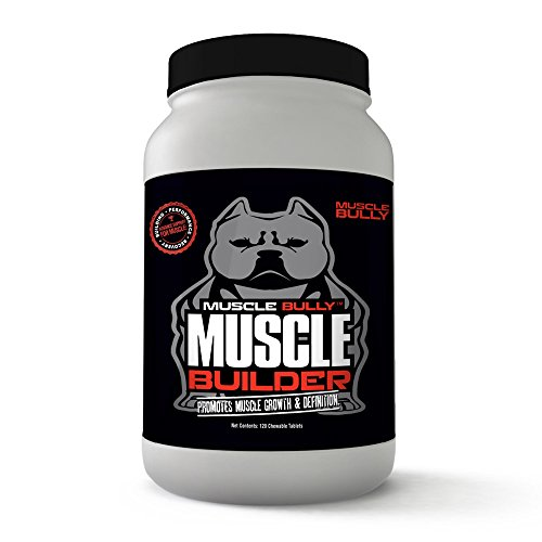 Muscle Builder for Bullies, Pitbulls, Bull Breeds - Contains Proven Muscle Building Ingredients That Support Muscle Growth & Definition On Your Dog. Made in the USA. 100% Safe, No Side Effects.