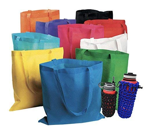 50 pcs Assorted Color Non-Woven Polypropelyne Tote