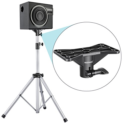 Neewer NW-001 Exterior Speaker Mounting Bracket 1.4 inches/3.5 centimeters Insert Mount Speaker Cabinet Stand with Adjustable Aperture Standard Hole Location Template for Use in Stage, Party, Studio