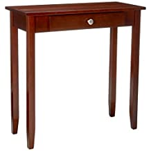 DHP Rosewood Tall Sofa Table, Dark Cherry Stain Wood