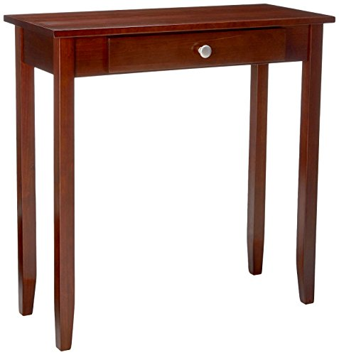 DHP Rosewood Tall End Table, Simple Design, Multi-purpose Small Space Table, Medium Coffee Brown