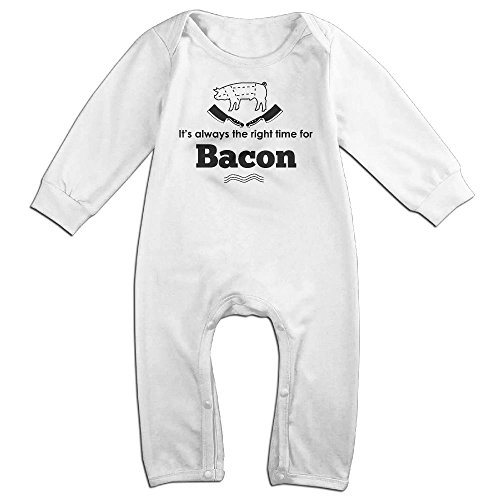 Its-always-the-right-time-for-bacon(1) Long Sleeve Outfits For 0-24 Months White 6 - Ups Times Delivery Australia
