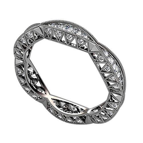 CZ Cubic Zirconia Diamond Ring for Wedding Anniversary Jewelry from Auwer
