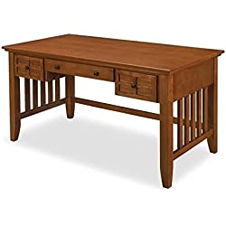 Home Styles 5180-15 Arts and Crafts Executive Desk, Cottage Oak Finish