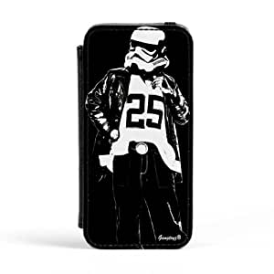Ghetto Trooper Premium Faux PU Leather Case, Protective Hard Cover Flip Case for Apple? iPhone 5 / 5s by Gangtoyz + FREE Crystal Clear Screen Protector