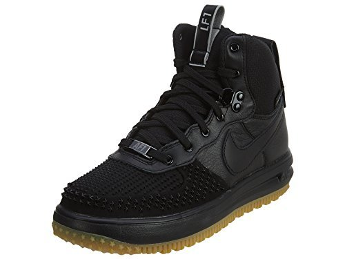 Nike Game Conquer - NIKE Kid's Lunar Force 1 Duckboot (GS) (Black/Black-Metalic Silver, 6.5Y)