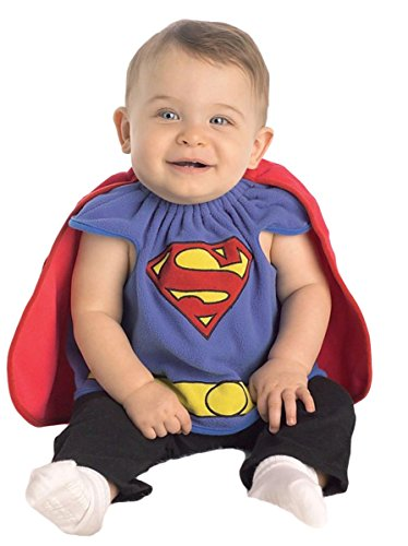 Baby Boy's Costume: Superman Bib- Infant 0-9 Months