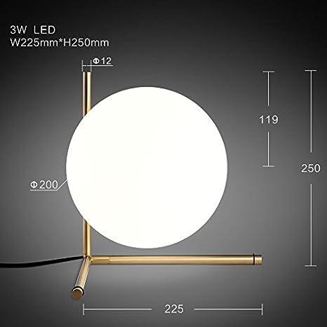 Metal Modern Glass Table Globe Bedroom Oaklighting Living Lamp Gold PukTOZiX
