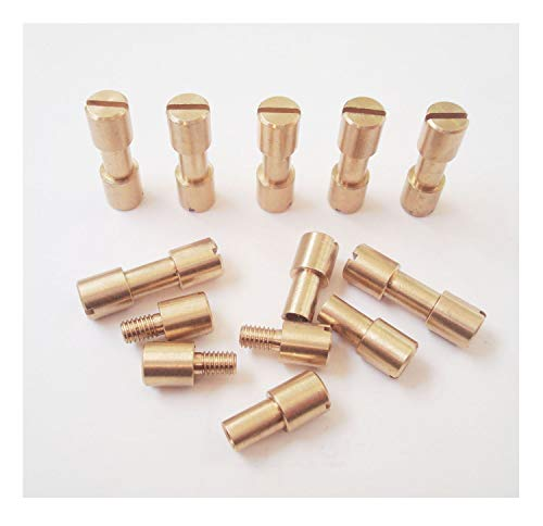 EDC Knife Fasteners Rivets,Knifemakers Corby Screws,DIY knife handle stud - 10 sets (brass, 0.27