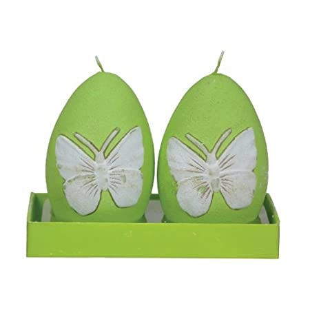 Fantastic Craft Boxed Pink Butterfly Egg Candles 3-1//2-Inch Set of 2 CI104 PINK