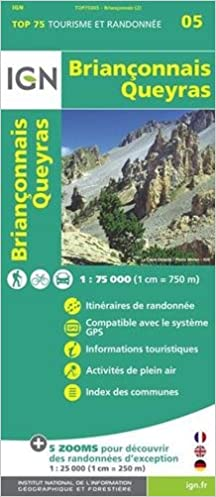 Carte Touristique Du Queyras.Top75005 Brianconnais Queyras 1 75 000 Amazon Fr Ign Livres