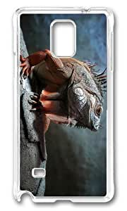 Adorable Iguana Hard Case Protective Shell Cell Phone HTC One M7 - PC Transparent