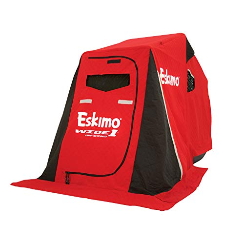 Eskimo Inferno 15350 Wide 1 Inferno Insulated Portable Ice Shelter with 50' Sled & Swivel Seat, 1 Person