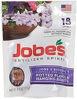 product image for Jobes 6105 Potted Plant & Hanging Basket Fertilizer Spikes 6-18-6